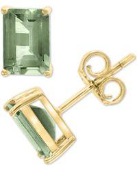 Effy Collection Effy® Green Quartz (1-9/10 Ct. T.w.) Stud Earrings In 14k Gold - Metallic