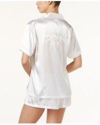 Linea Donatella Bride Embroidered 2pc Pyjama Set - White