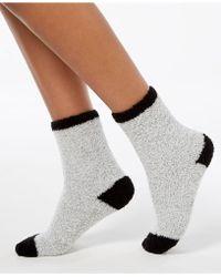 Charter Club Colorblocked Fuzzy Cozy Socks, Created For Macy's - Gray