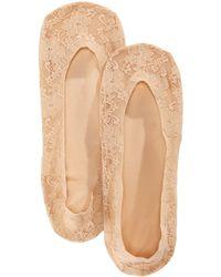 Hue - Women's Lace Perfect Edge Liner Socks - Lyst