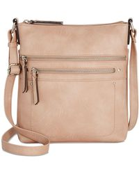 INC International Concepts Riverton Medium Crossbody, Created For Macy's - Natural