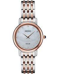 Seiko - Diamond-accent Two-tone Stainless Steel Bracelet Watch 29.5mm, Created For Macy's - Lyst