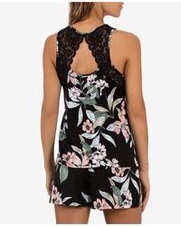 Linea Donatella Vivienne Cami & Tap Shorts Pyjama Set - Black