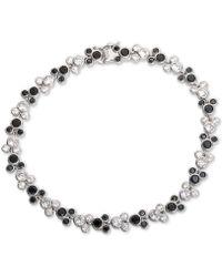Disney Cubic Zirconia Mickey Mouse Tennis Bracelet In Sterling Silver - Black