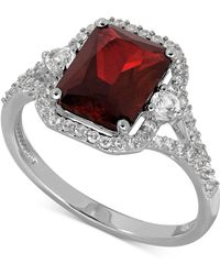 Macy's - Lab-created Ruby (3-1/10 Ct. T.w.) And White Sapphire (3/8 Ct. T.w.) Ring In Sterling Silver - Lyst