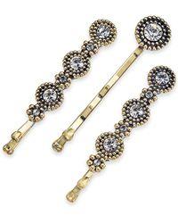 INC International Concepts I.n.c. Gold-tone 3-pc. Set Crystal Hair Pins, Created For Macy's - Metallic