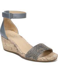 Naturalizer Areda Ankle Strap Wedge Sandals - Multicolour