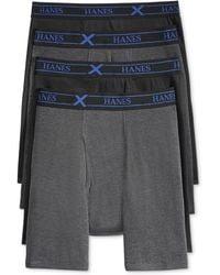 Hanes 4-pack X-temp Performance Boxer Briefs - Gray