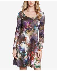 Karen Kane - Abstract Floral A-line Dress - Lyst