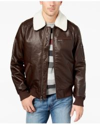 Members Only - Vintage Vegan Leather Bomber - Lyst