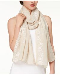 INC International Concepts   I.n.c. Lovely Floral-embroidered Scarf, Created For Macy's   Lyst