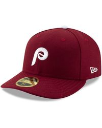 timeless design cfb59 947b2 KTZ Philadelphia Phillies Low Crown Ac Performance 59fifty Cap in Red for  Men - Lyst