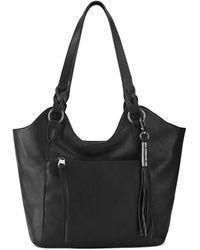 The Sak Sierra Leather Shopper - Black