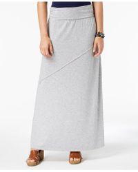 Style & Co. Comfort-waist Maxi-skirt, Created For Macy's - Gray