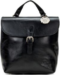 Patricia Nash Vatoni Convertible Leather Backpack, Created For Macy's - Black