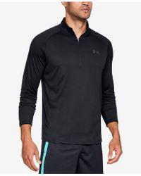 Under Armour Half Zip Tech Sweatshirt - Black