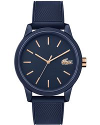 Lacoste 12.12 Blue Rubber Strap Watch 42mm