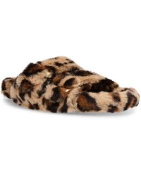 Steve Madden Around Double-band Footbed Slippers - Brown