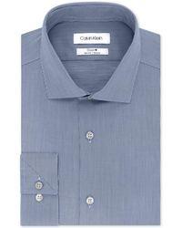 Calvin Klein - Steel Slim-fit Non-iron Stretch Performance Unsolid Dress Shirt - Lyst