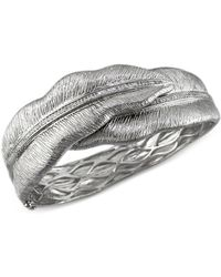 Effy Collection - Balissima By Effy Diamond Leaf Bangle Bracelet In Sterling Silver (3/8 Ct. T.w.) - Lyst