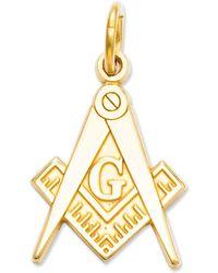 Macy's 14k Gold Charm, Masonic Charm - Metallic