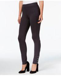 Style & Co. - Snap-hem Ponte-knit Leggings - Lyst