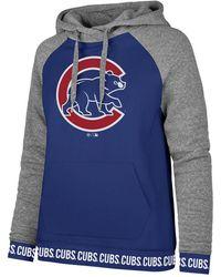 best sneakers 089d7 be142 Tailgate Fleece Women's Chicago Cubs Crew Sweatshirt in Gray ...
