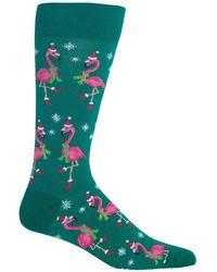 Hot Sox Holiday Animal Crew Socks - Green