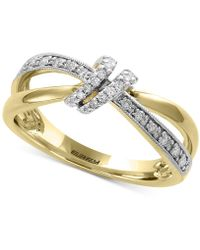 Effy Collection - Effy® Diamond Knot Statement Ring (1/6 Ct. T.w.) In 14k Gold - Lyst