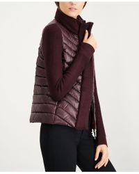 Calvin Klein - Quilted Sweater-trim Puffer Coat - Lyst