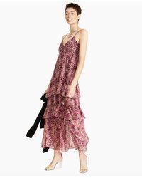 Bar Iii Printed Tiered Ruffled Maxi Dress, Created For Macy's - Multicolour