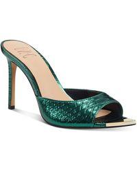 INC International Concepts Amra Dress Slide Sandals, Created For Macy's - Green