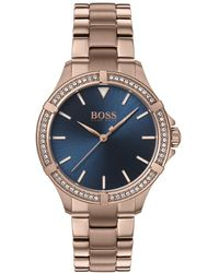 BOSS Mini Sport Carnation Gold-tone Stainless Steel Bracelet Watch 32mm - Metallic