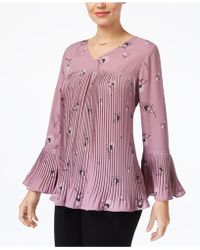 Style & Co. - Petite Pleated Bell-sleeve Top, Created For Macy's - Lyst