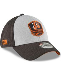 reputable site 041b9 6ec0d KTZ - Cincinnati Bengals On Field Sideline Road 39thirty Stretch Fitted Cap  - Lyst