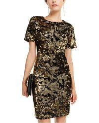 INC International Concepts Inc Velvet & Sequin Dress, Created For Macy's - Metallic