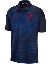Nike - Cleveland Indians Stripe Game Polo - Lyst
