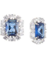 Carolee - Silver-tone Crystal Cluster Stud Earrings - Lyst