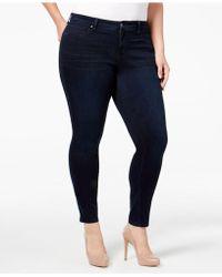 Jessica Simpson Plus Size Od Black Wash Skinny Jeans - Blue