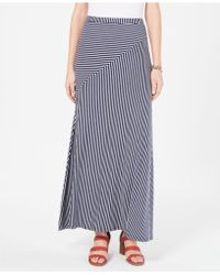 Style & Co. - Petite Spliced-stripe Maxi Skirt, Created For Macy's - Lyst