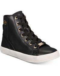275e06b88d90 Lyst - Bebe Sport Colby Wedge Sneakers in Black