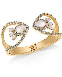INC International Concepts - I.n.c Gold-tone Stone & Pavé Hinge Cuff Bracelet, Created For Macy's - Lyst