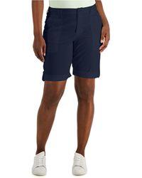 Karen Scott Rolled Cuff Bermuda Shorts, Created For Macy's - Blue