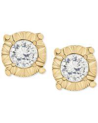 Macy's - Diamond Stud Earrings In 10k White Gold (1/4 Ct. T.w.) - Lyst