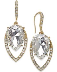 INC International Concepts - I.n.c. Gold-tone Crystal Drop Earrings, Created For Macy's - Lyst
