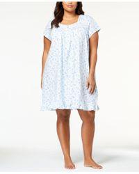 Eileen West - Plus Size Cotton Venise-lace Nightgown - Lyst