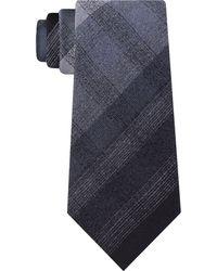 Kenneth Cole Multi Tonal Check Tie - Black