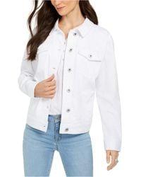 Style & Co. Denim Trucker Jacket, Created For Macy's - White