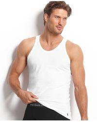 Polo Ralph Lauren Men's Underwear, Slim-fit Stretch Cotton Jersey Tank 3 Pack - White