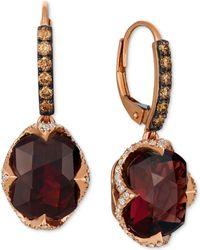 Le Vian - ® Rhodolite Garnet (9-5/8 Ct. T.w.) & Diamond (3/4 Ct. T.w.) Drop Earrings In 14k Rose Gold - Lyst
